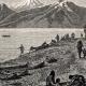 DÉTAILS 02 | Vue du Fleuve Yukon (Amérique du Nord) - Campement d'Amérindiens - Indiens d'Amérique - Gwich'in