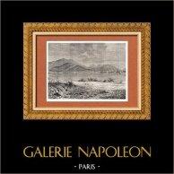 Vue de Cap-Haitien (Haïti) - Cap-Français - Grandes Antilles | Gravure sur bois originale dessinée par Taylor. 1882