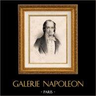Portret Casimir Delavigne (1793-1843) - Francuski Dramaturge