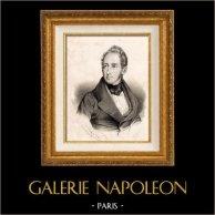 Retrato de Alphonse de Lamartine (1790-1869) - Poeta y Politico Frances