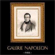 Retrato de Abel-François Villemain (1790-1870) - Politico e Escritor Francês