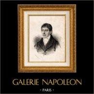 Portrait de Royer-Collard Pierre Paul (1763-1845) - Homme Politique et Philosophe Français | Lithographie originale lithographiée par Ghemar. 1842