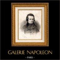 Portrait de Victor Hugo (1802-1885) - Ecrivain Français | Lithographie originale lithographiée par Baugnut. 1841