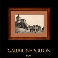 Vue d' Avignon - Palais des Papes (France)
