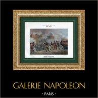 Campagne d'Égypte - Empire Ottoman - Napoléon à la Bataille d'Alexandrie - Armée d'Orient - 2 Juillet 1798 | Typogravure originale de Boussod & Valadon d'après Grenier. 1893