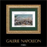 Campaña Napoleónica en Egipto - Imperio Otomano - Batalla de las Pirámides - Armee d'Orient - Mamelucos - 1798 | Original typogravure de Boussod & Valadon segùn Martinet. 1893