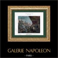 Campagna d'Egitto - Impero Ottomano - Il Cairo - Napoleone alla Festa di Maometto - Armee d'Orient - 1798 | Typogravure originale di Boussod & Valadon secondo Colin. 1893
