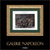 Campaña Napoleónica en Egipto - Imperio Otomano - La Rebelión en el Cairo - Armee d'Orient - 1798 - Mamelucos | Original typogravure de Boussod & Valadon segùn Girodet-Trioson. 1893