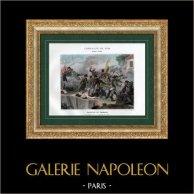 Guerres de la Révolution Française - Armée d'Italie - Bataille de Cassano - 27 Avril 1799   Typogravure originale de Boussod & Valadon d'après Gingleton. 1893