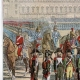 DÉTAILS 01 | Guerres de la Révolution Française - Armée d'Italie - Revue de l'Armée Italienne à Milan par le Général en Chef Murat - 1800