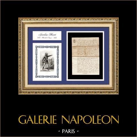Dokument Historyczny - stu dni Napoleona - 1815 - śmierć Joachima Murat |