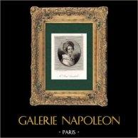 Retrato de Julie Candeille (1767-1834) - Atriz Francês