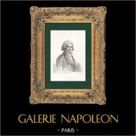 Portrait de Jean Baptiste Antoine Suard (1733-1817) - Journaliste Français | Gravure sur cuivre originale d'après François Gerard gravée par Carey. 1802