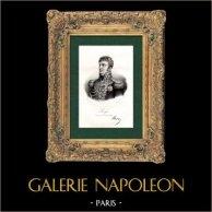 Retrato de Jean Rapp (1771-1821) - General del Imperio - Guerras Napoleónicas | Original litografia litografiado por Gregoire et Deneux. 1840