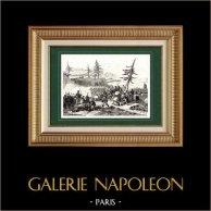 Guerres napoléoniennes - Campagne de Russie - Bataille de Valutino - Maréchal Ney | Gravure sur acier originale dessinée par Martinet, gravée par Réville. 1838