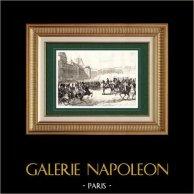 Napoleone Bonaparte Primo Console - Colpo di Stato del 18 brumaio (1799) | Incisione su acciaio originale disegnata da Martinet, incisa da Réville. 1838