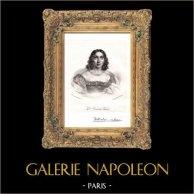 Portrait de Marceline Desbordes-Valmore (1786-1859) - Poètesse Française