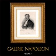 Portrait de Alphonse Gabriel Victor Paillet (1796-1855) - Avocat Français | Lithographie originale dessinée par Chamoun. Chine-collé. 1860