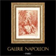 Romantyzm - le Rendez-vous Galant - Scena Duszpasterska (Antoine Watteau)