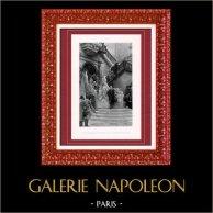 Peinture - Exposition 1888 - Georges Clairin (1843-1919) - Philippe IV d'Espagne et l'Infante - Cathédrale de Burgos   Héliogravure originale d'après Georges Clairin. 1888
