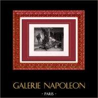 Pittura - Mostra 1888 - Diogène Maillart (1840-1926) - Ettore e Paride | Incisione heliogravure originale secondo Diogène Maillart. 1888