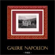 Painting - Exposition 1888 - Jules Breton (1827-1906) - Jeunes filles se rendant à la Procession