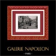 Peinture - Exposition 1888 - Paul Émile Boutigny (1853-1929) - Le lendemain de Champigny, à Bry-sur-Marne | Héliogravure originale d'après Paul Émile Boutigny. 1888