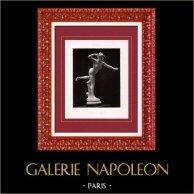 Escultura - Exposición 1888 - Alexandre Falguière (1831-1900) - Ninfa Cazadora | Original helio grabado segùn Alexandre Falguière. 1888