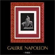 Sculpture - Exposition 1888 - Tony Noël (1845-1909) - La Fuite en Égypte | Héliogravure originale d'après Tony Noël. 1888