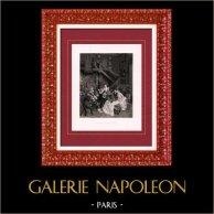Pintura - Mostra 1888 - Albert Aublet (1851-1938) -  Autour d'une partition