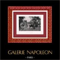 Pintura - Exposición 1888 - Jean-Richard Goubie (1842-1899) - Partie de campagne