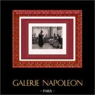 Painting - Exposition 1888 - Walter Gay (1856-1937) - Asylum | Original heliogravure after Walter Gay. 1888