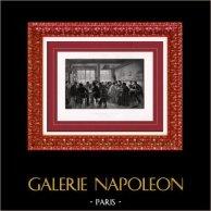 Peinture - Exposition 1888 - Victor Marec (1862-1920) - Retour de l'Enterrement | Héliogravure originale d'après Victor Marec. 1888