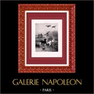 Painting - Exposition 1888 - Jules Bertrand Gelibert (1834-1916) - Scene of hunting - Mallard