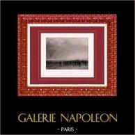 Peinture - Exposition 1888 - Paul Alexandre Protais (1826–1890) - La Fin de l'Averse | Héliogravure originale d'après Paul Alexandre Protais. 1888