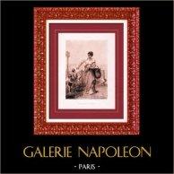Painting - Exposition 1888 - Jean Aubert - Le Marché aux Amours