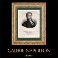 Portrait du comte de Laforest (1756-1846) - Ambassadeur et Homme Politique Français | Lithographie originale lithographiée par Villain. Chine-collé. 1835