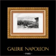 Tirailleurs de la Seine au Combat de la Malmaison 1870 (E. Berne-Bellecour) | Gravure à l'eau-forte originale d'après E. Berne-Bellecour gravée par Kratké. 1880
