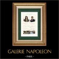Portraits de Jean Bart et Merlin de Douai - Vue de Gravelines (Nord - France) - Nord-Pas-de-Calais