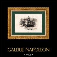 History of Napoleon Bonaparte - Portrait of Napoleon I of France as Emperor on Horseback (1815)