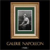 Art espagnol - Portrait de Dame Inconnue (Tony Johannot)