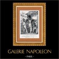 Grenadier - Kaiserliche Garde von Napoleon I. - Humor (Charlet) | Original lithographie gezeichnet von Charlet, lithographiert von Gihaut frères. 1829