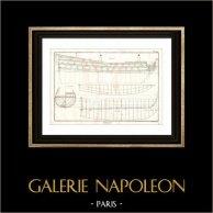 Marine Royale Française - 1787 - Navire de Guerre - Construction Navale - Architecture Navale
