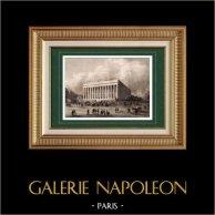 Vue de Paris - Palais Brongniart - Palais de la Bourse de Paris