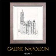 Dessin d'Architecte - Architecture - Cathédrale de Rodez (M. Pailhès)