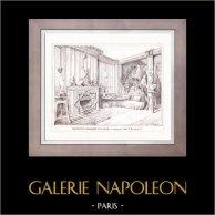 Dessin d'Architecte - Architecture - Céramique d'un Salon (E. Müller et Cie)
