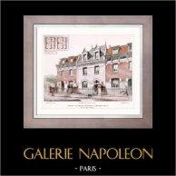 Dessin d'Architecte - Architecture - Groupe de Petites Maisons à Asnières (Ch. Labro)
