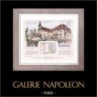 Dessin d'Architecte - Architecture - Groupe Scolaire et Municipal à Villeneuve-Saint-Georges (E. Danest)
