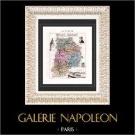 Map of France - 1881 - Seine et Marne (Melun - Amyot - Berthier de Nemours)