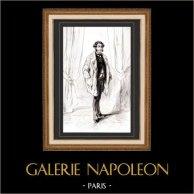Karikatuur - Parijs aan de 19e eeuw - Collectie Paul Gavarni 4/38